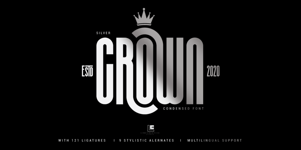 Silver Crown font page