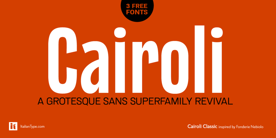 Cairoli Classic font page