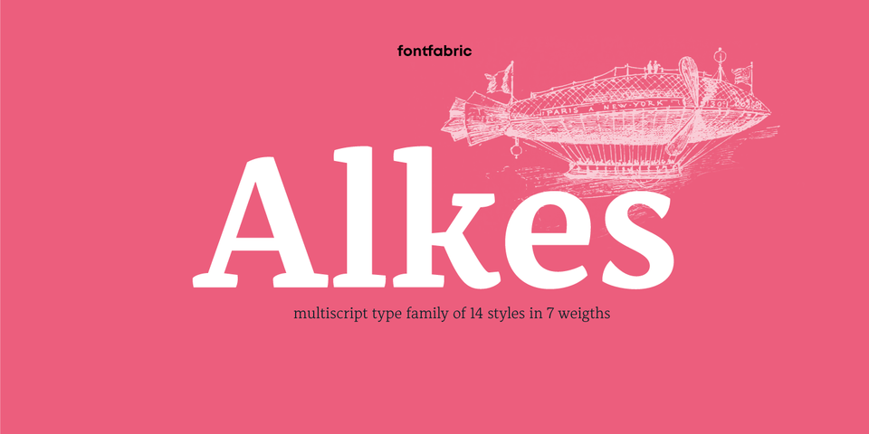 Alkes font page