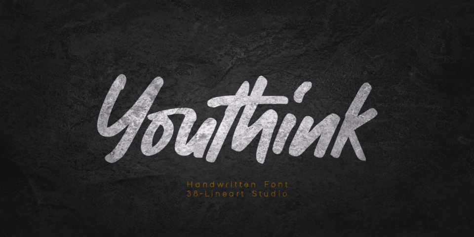 Youthink font page