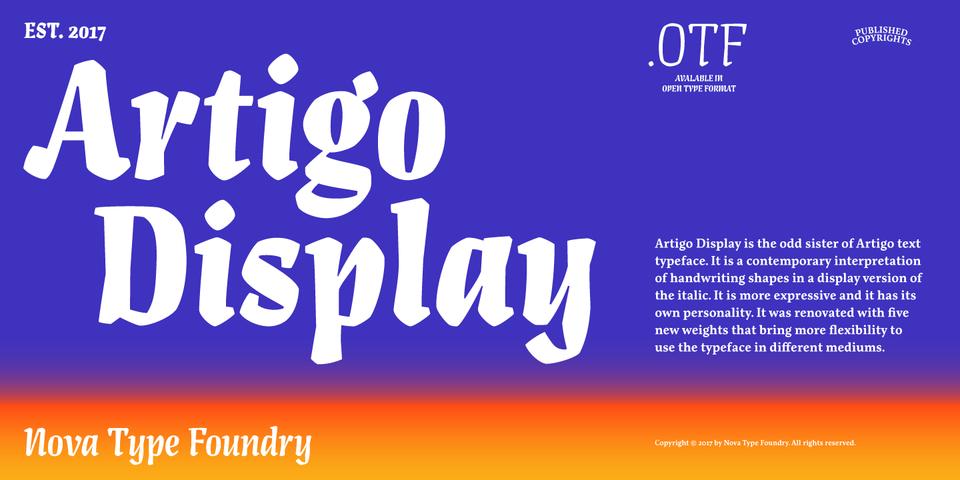Artigo Display font page