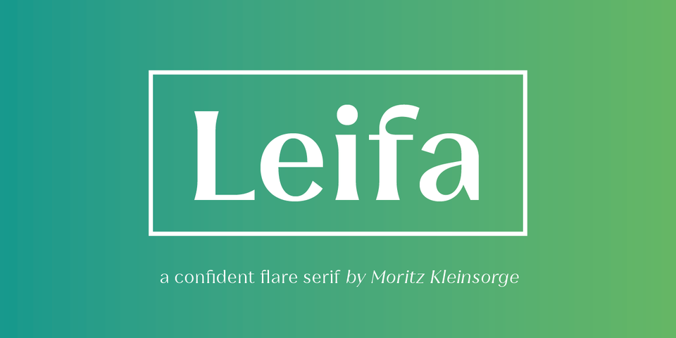 Leifa font page