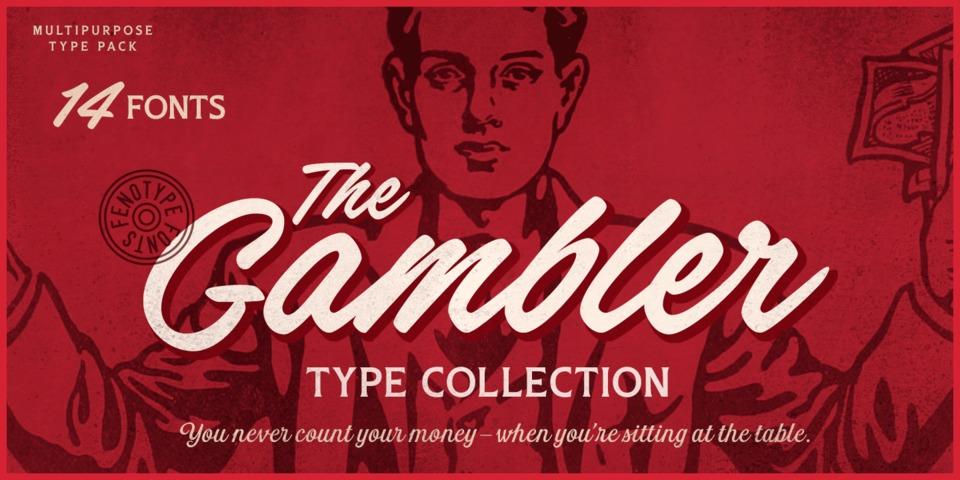 Gambler font page
