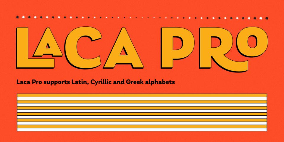 Laca Pro font page