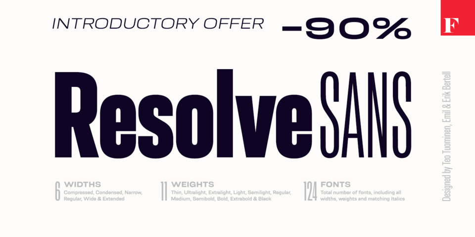 Special offer on Resolve Sans