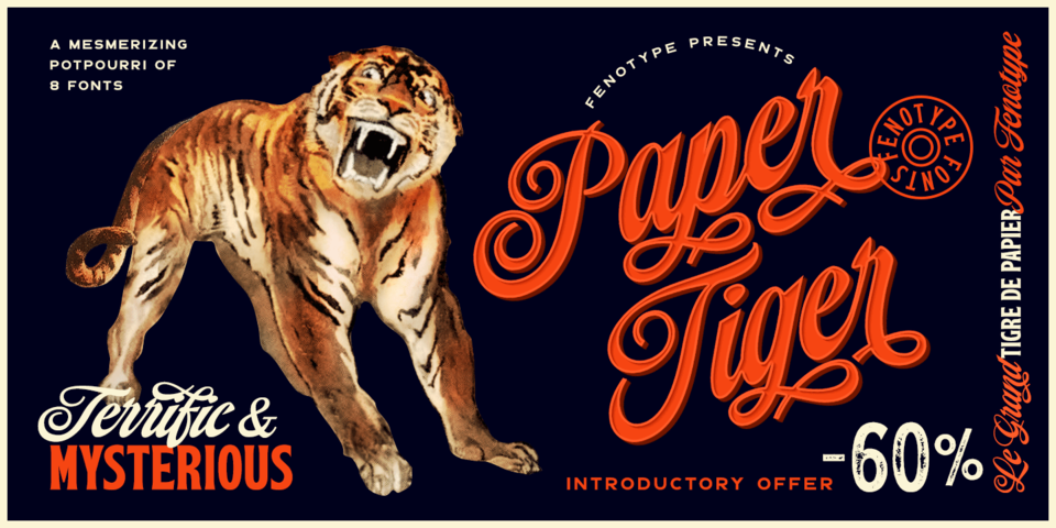 Special offer on Paper Tiger