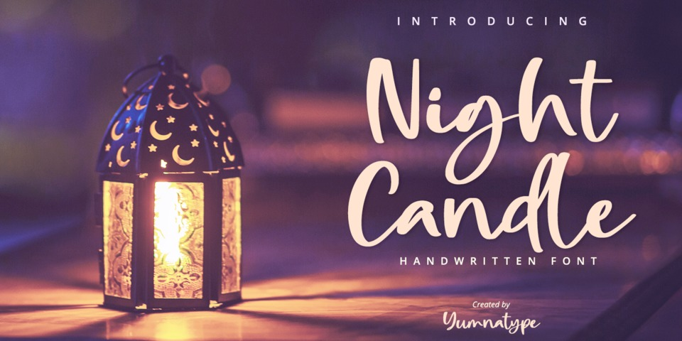Night Candle font page