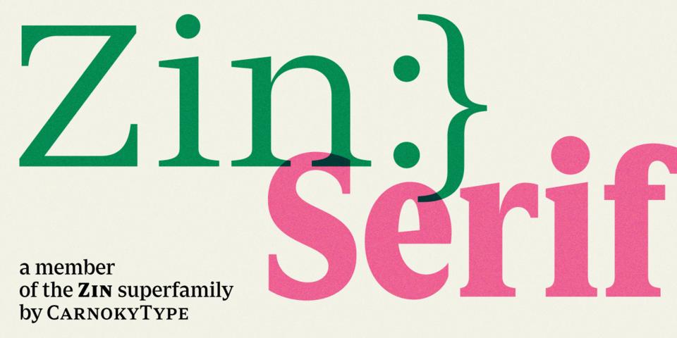 Zin Serif font page