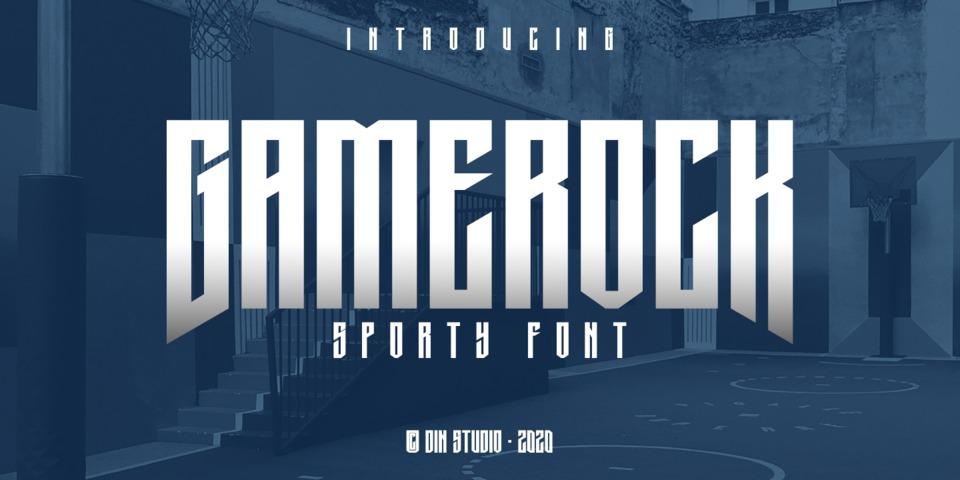 Gamerock font page