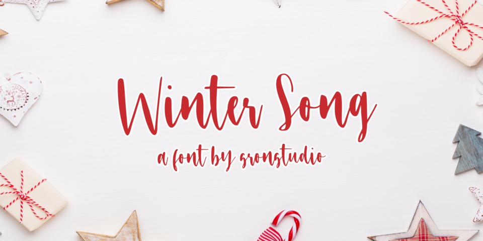 Winter Song font page