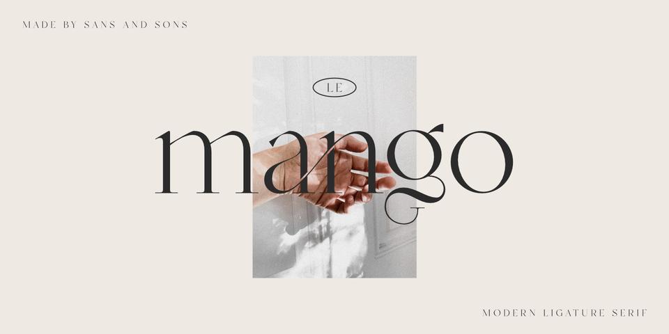 La Mango font page
