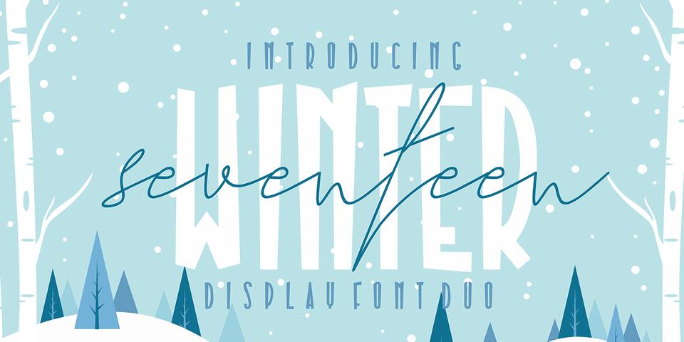 Seventeen Winter font page