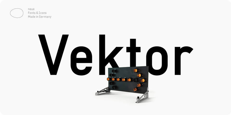 Neue Vektor font page