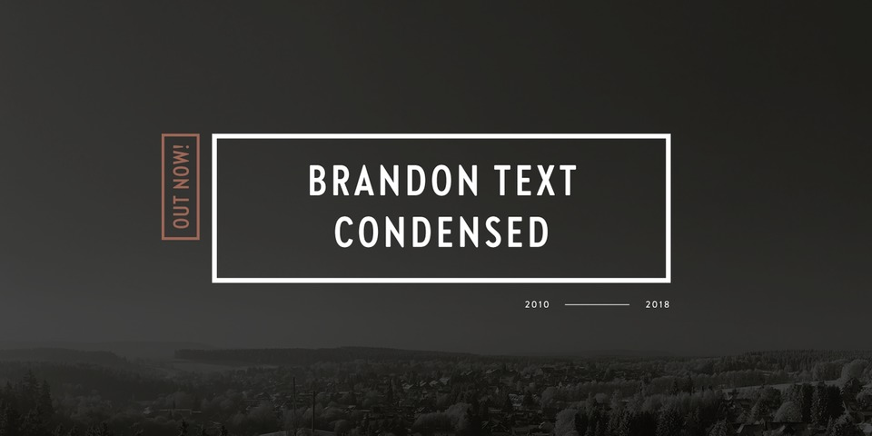 Brandon Text Condensed font page