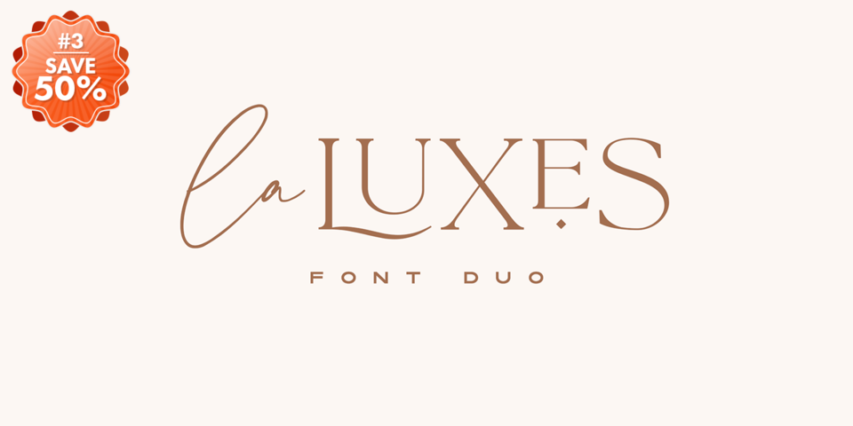 Special offer on La Luxes