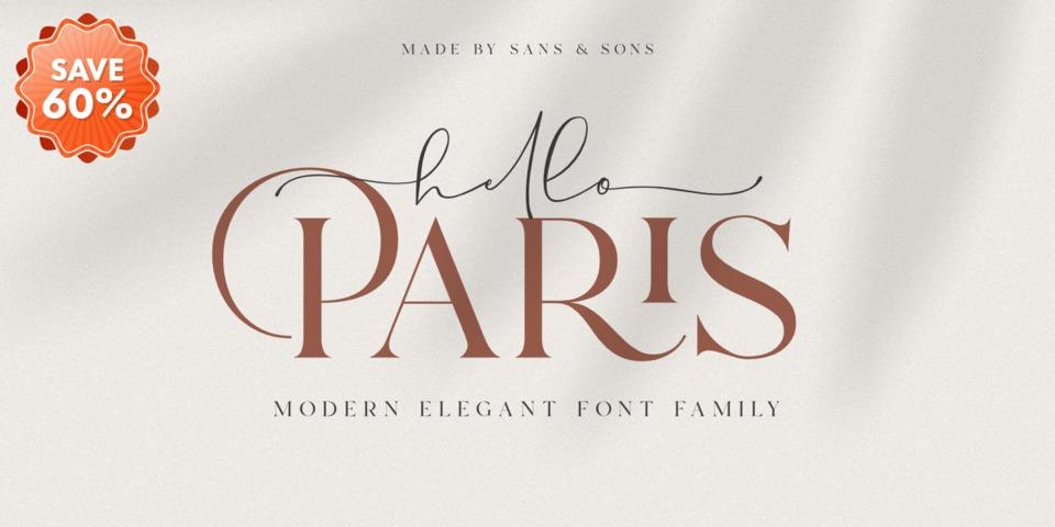 Special offer on Hello Paris Sans