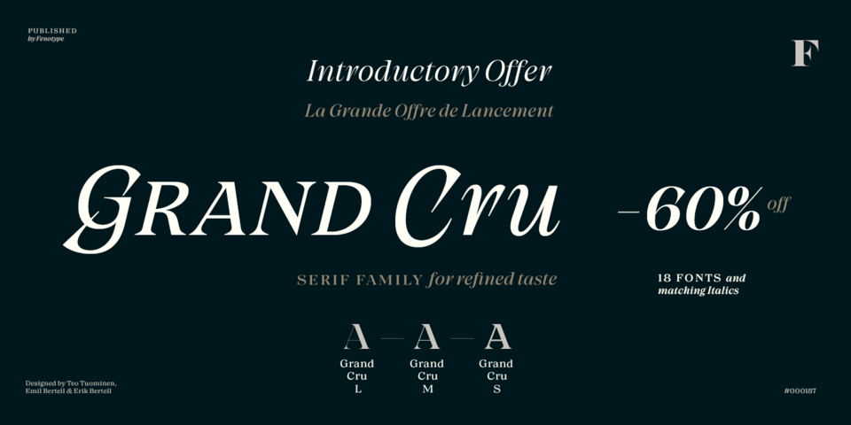 Special offer on Grand Cru