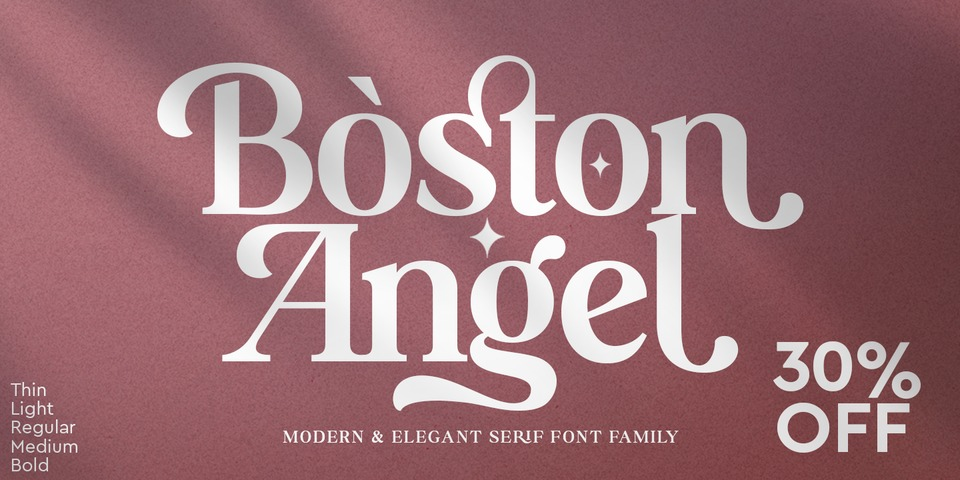 Special offer on Boston Angel