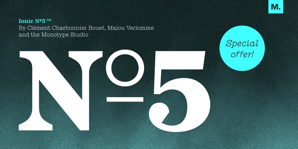 Special offer on Ionic No 5