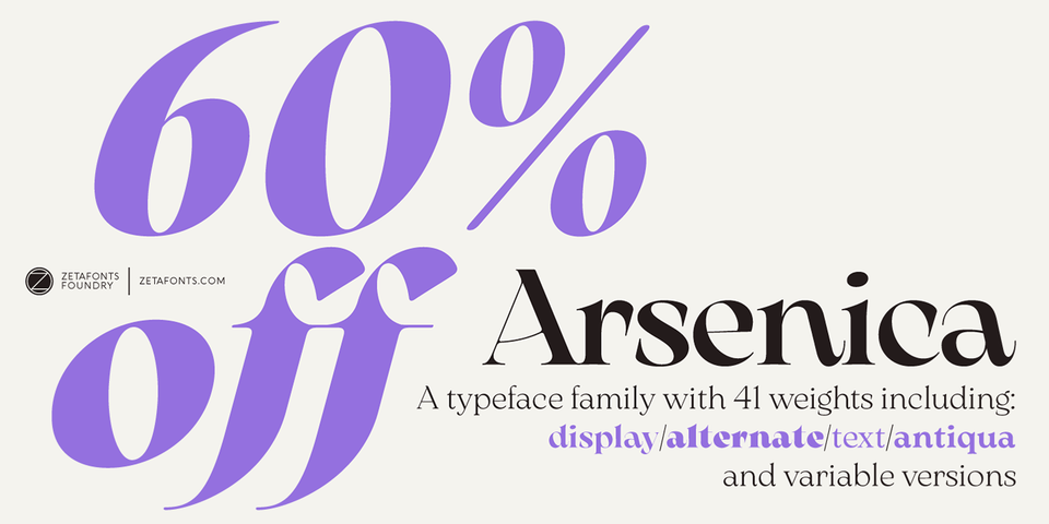 Special offer on Arsenica