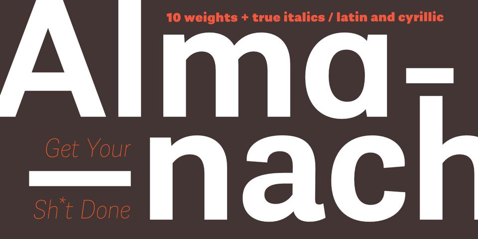 Almanach font page