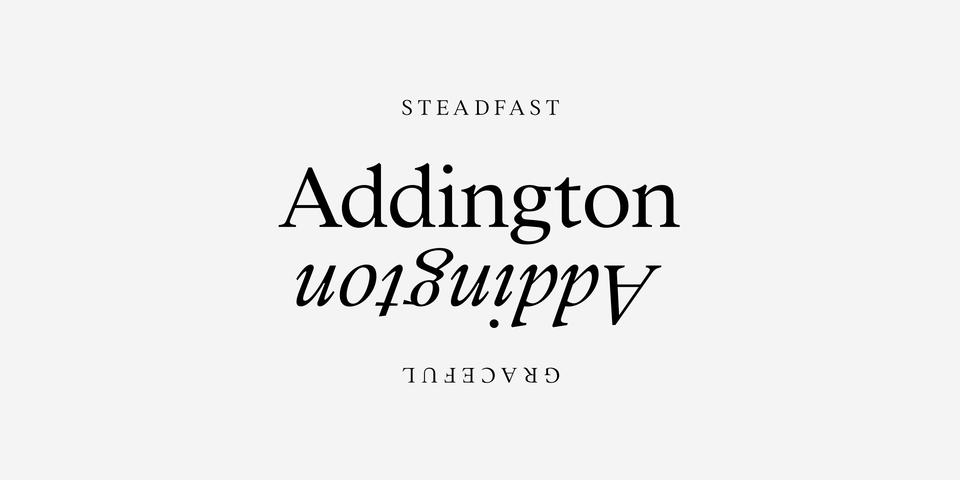 Addington CF font page
