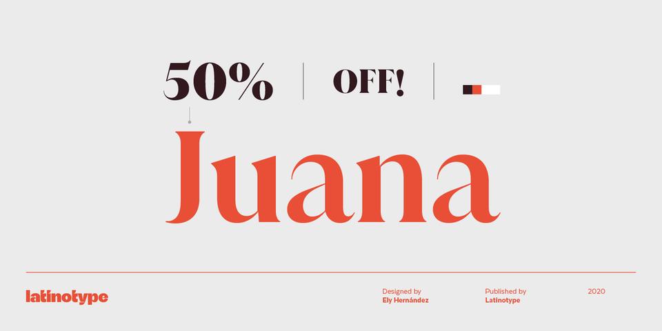 Special offer on Juana