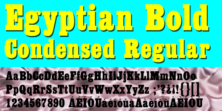 Egyptian ExtraBold Condensed