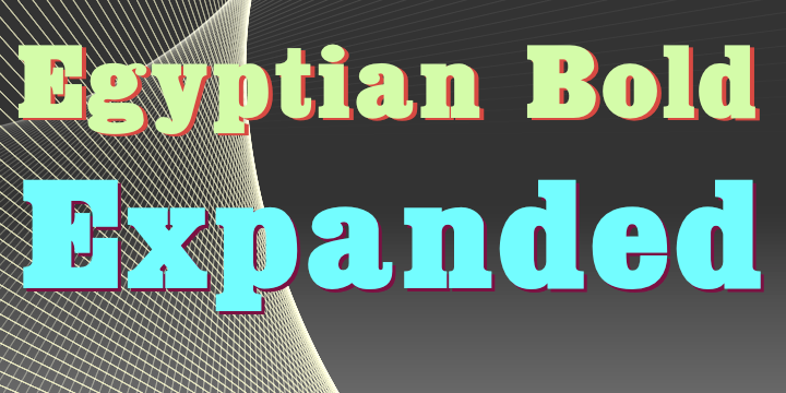 Egyptian Bold Expanded