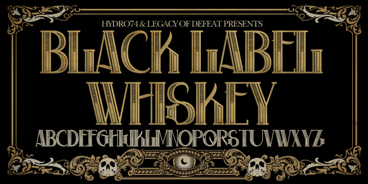 H74 Black Label Whiskey