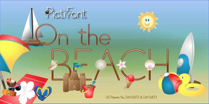 PictiFont Symbols -  On The Beach