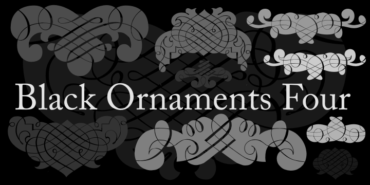 Black Ornaments Four