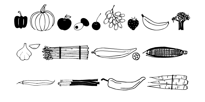 Fruit And Veggie Doodles