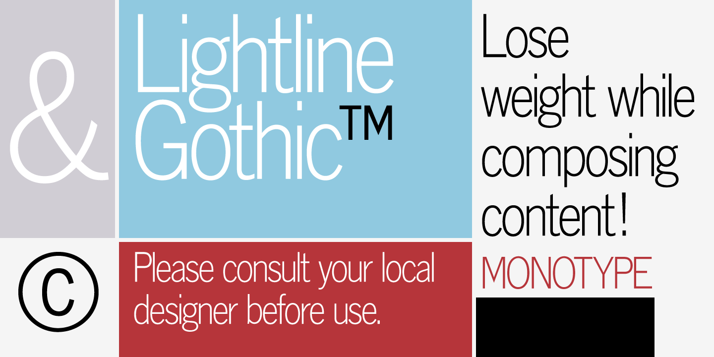 Monotype Lightline Gothic