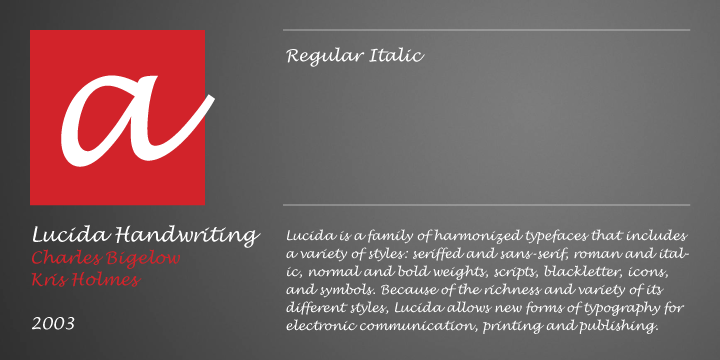 Lucida Handwriting