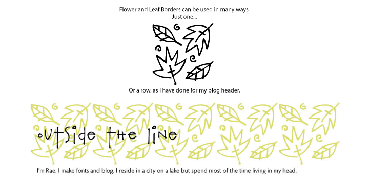 Flower And Leaf Borders