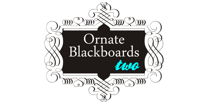 Ornate Blackboards