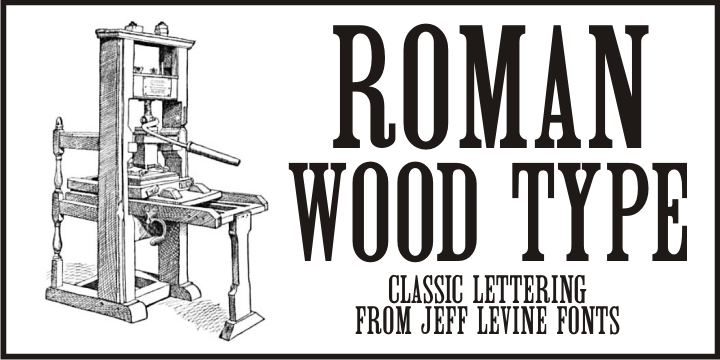 Roman Wood Type JNL