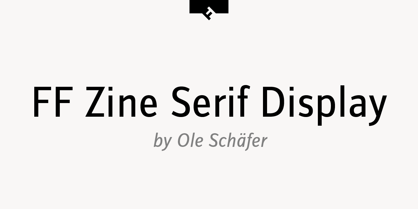 FF Zine Serif Display