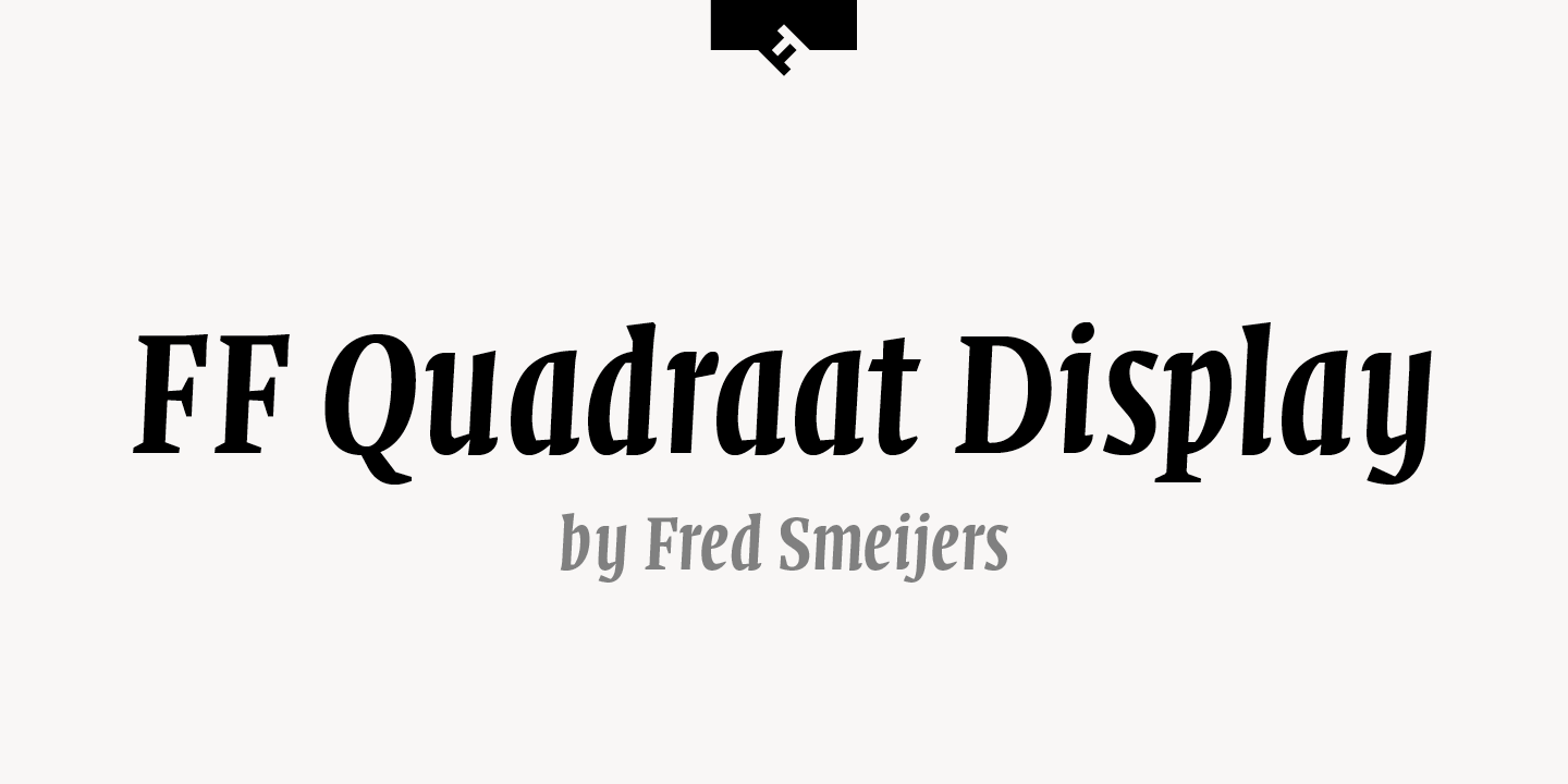 FF Quadraat Display