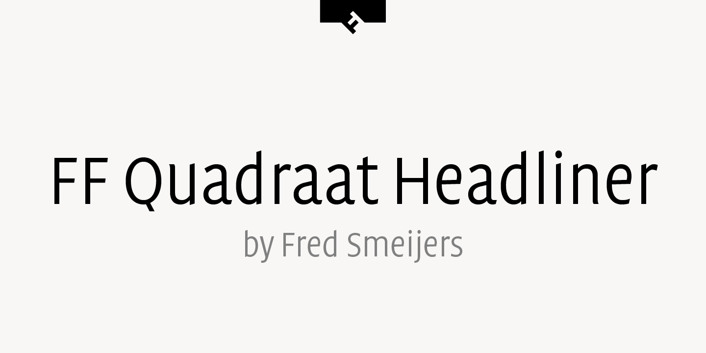 FF Quadraat Headliner