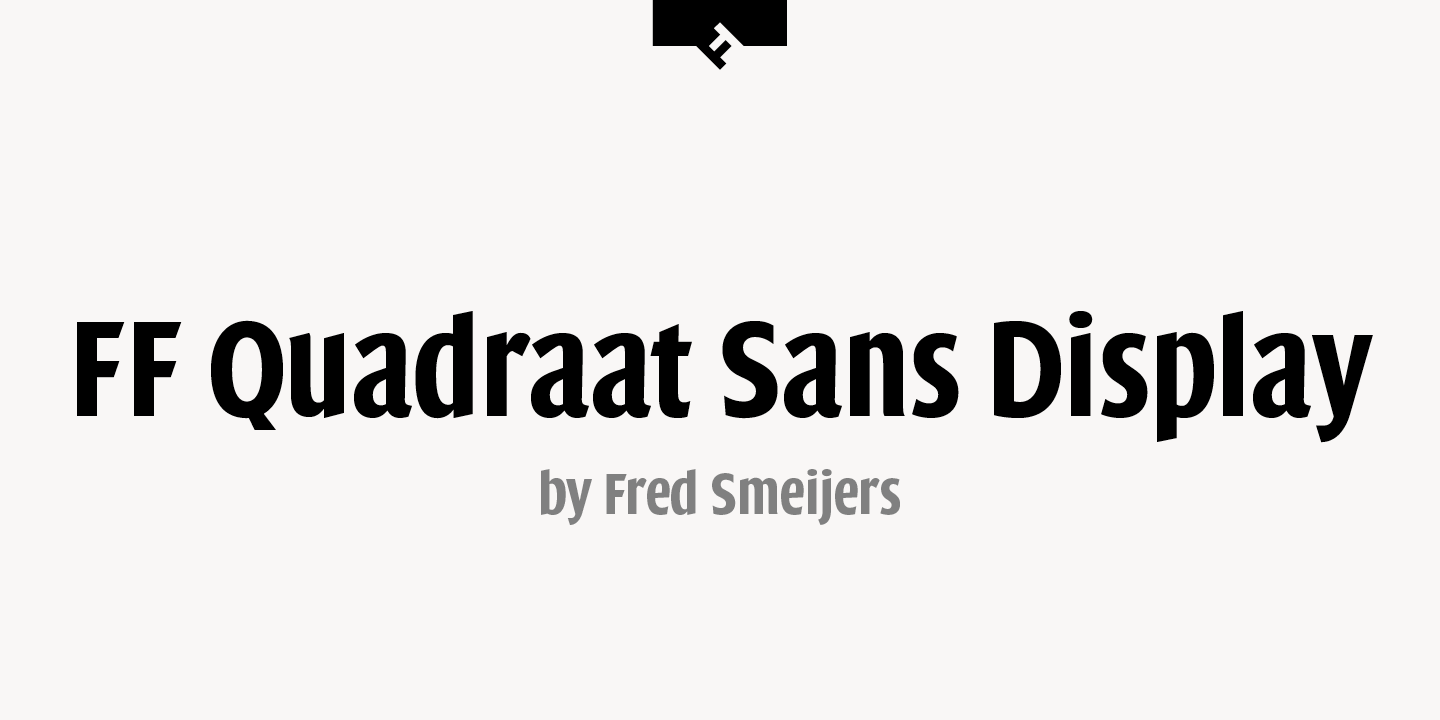 FF Quadraat Sans Display