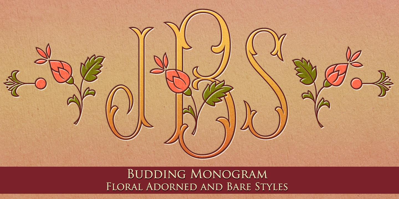 Best sellers premium fonts page 248 urban fonts -  Mfc Budding Monogram