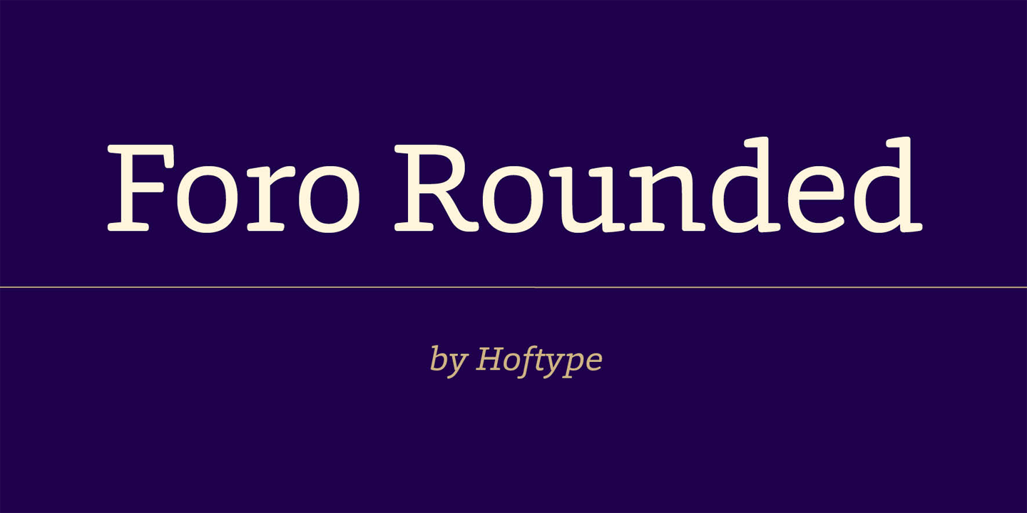 Foro Rounded