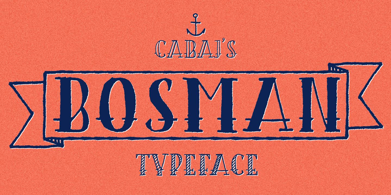 Best sellers premium fonts page 248 urban fonts -  Bosman Bosman