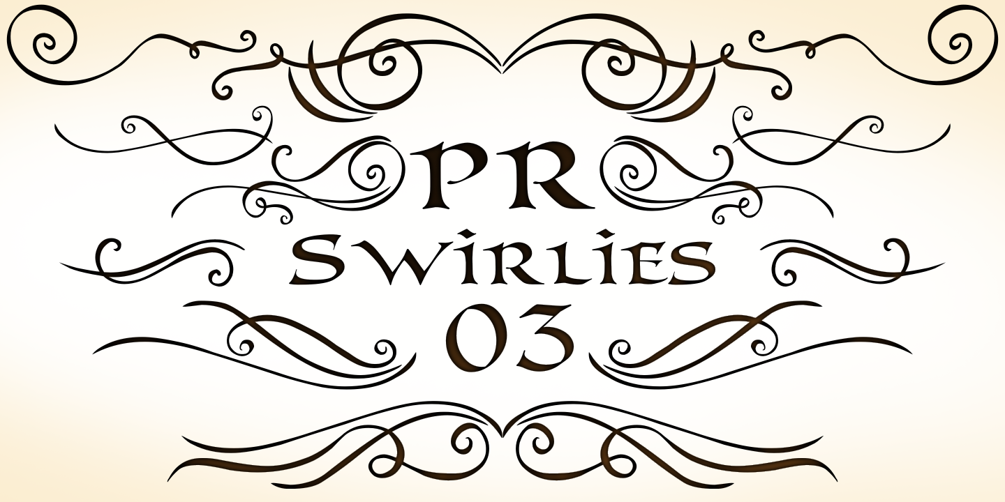 Best sellers premium fonts page 248 urban fonts - Pr Swirlies 03 By Pr Fonts Category Decorative