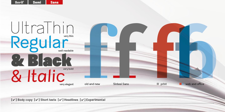 Best sellers premium fonts page 248 urban fonts -  Sintesi Sans Sintesi Sans