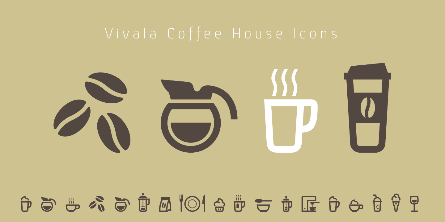 Vivala Coffee House Icons