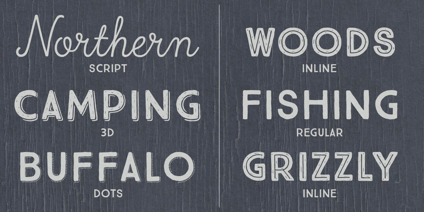 True North Font Family