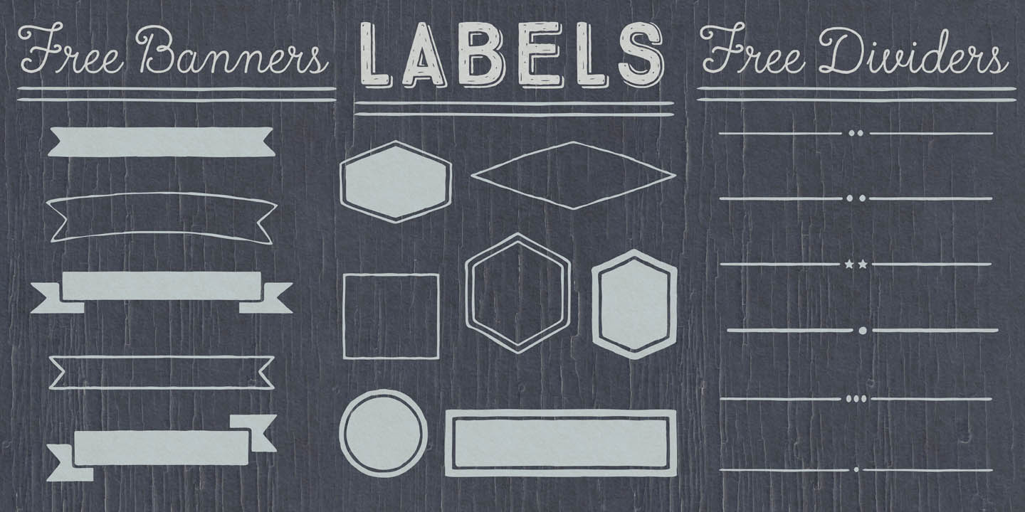 Free Labels Banners and Dividers